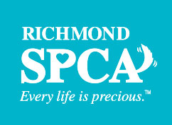Richmond SPCA white logo on blue background