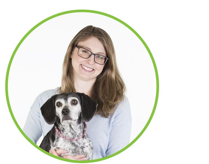 Kari Hosack and Stella (dog)