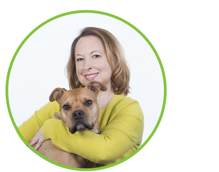 Tabitha Treloar and Roux (dog)