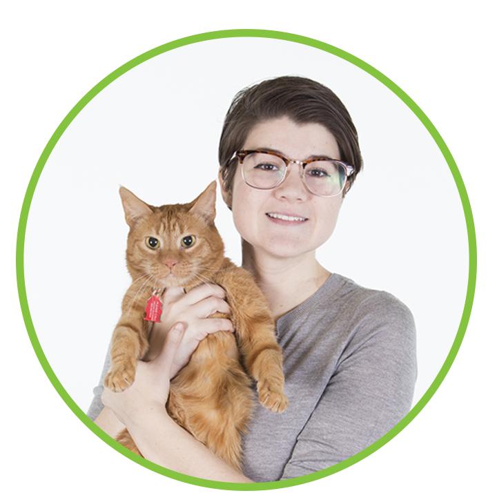 Megan Buckner and Franklin (cat)