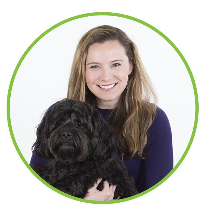 Anne Goddard Rand and Tophe (dog)