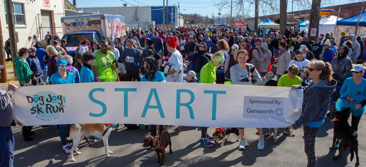 Dog Jog and 5K Run start line