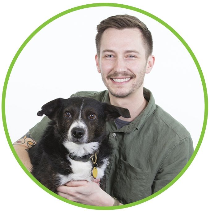 Tommy DeSanto with Sprout (dog)